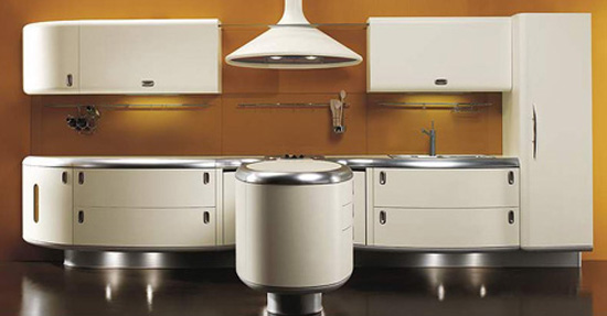 Americana kitchen curved lines design built environmentally friendly processes and free harmful elements