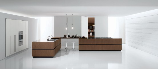 Bravo company kitchens equipped with high technology professionals integrated into wall