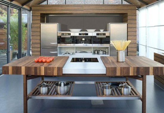 Contemporary kitchens available in oak beech European cherry American walnut and black cherry