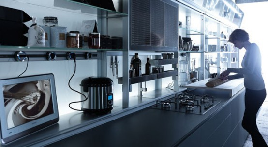 Ergonomic Kitchen Design features nano coated surfaces scratch resistant