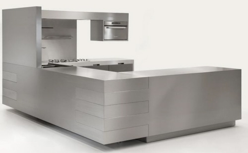 Full Stainless Steel Kitchen from Strato Italian manufacturer