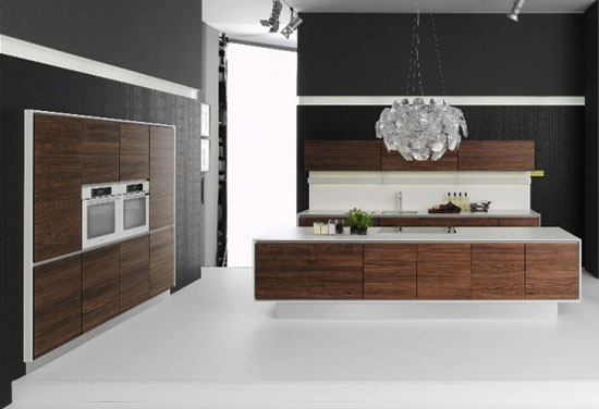 Handleless Kitchens Design made of natural wood Vao kitchen by Team7