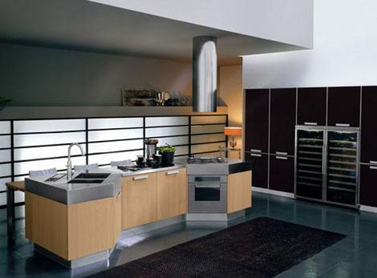 Moderns Omnia kitchen use natural oak or grey oak furniture by Bontempi
