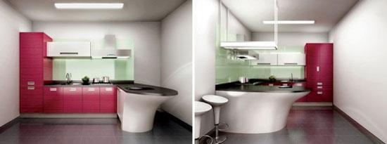 Ruby Teak Kitchens Design from Hanssem Korean kitchens designer