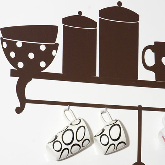 Wall kitchens Stickers for simple look Kitchen Design from Collection Tea Time
