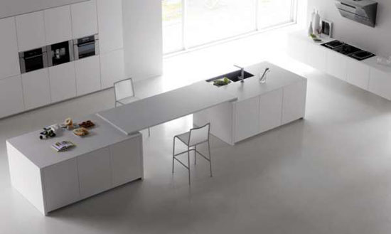 beautiful white kitchens inspired by islands in open sea gives fantastic results