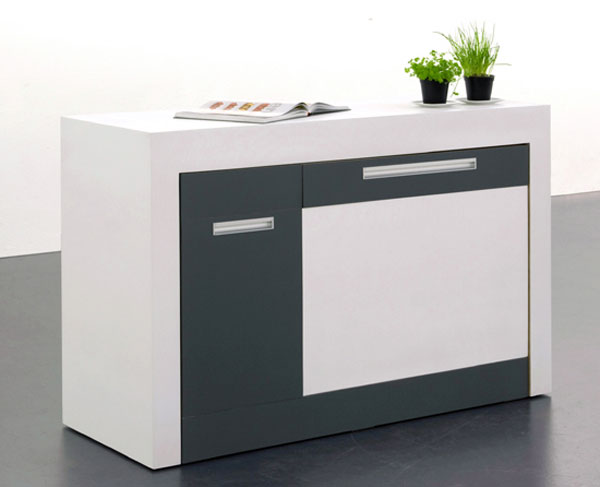 best compact kitchen for smal apartments to create comfortable work area