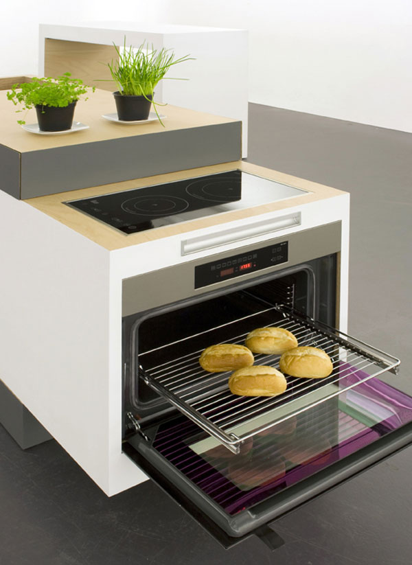 best compact kitchen for smal apartments to create comfortable works area