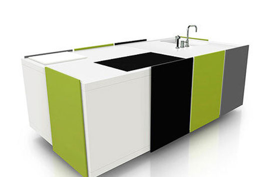 black greens color compact kitchens simply ideal for modern urban living