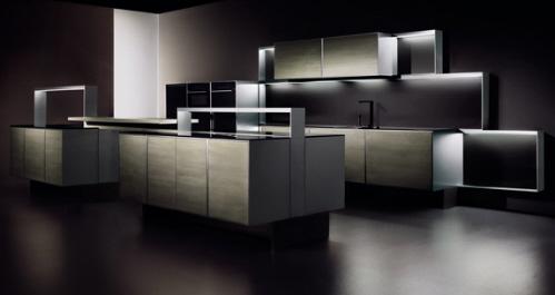 built-in multimedia LCD developed modern kitchen Poggenpohl