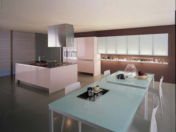 Casual kitchen design in modern theme