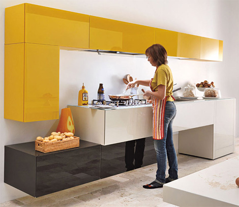 cheerful colors kitchen expressed in array of hues cool lines and modular designs