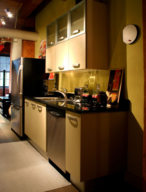 earthen color tones for small kitchen