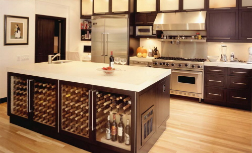 functional kitchen island table with storage for modern kitchen design