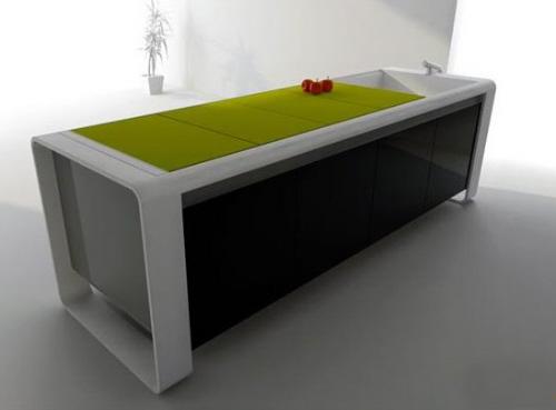 future green kitchen islands