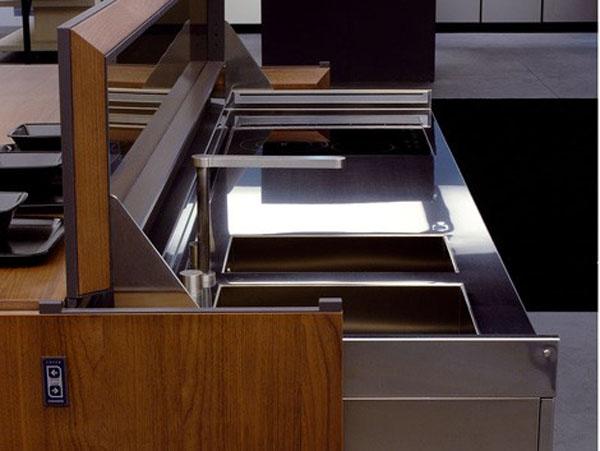 future kitchens remote controlled kitchen island design in aluminum and walnut