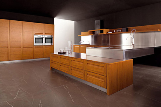 high quality teak kitchen materials stainless steel create classical modern kitchen