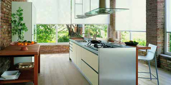 italian kitchens style from Valcucin has clean lines for modern kitchens