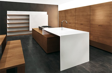 modern kitchen design available in some exotic woods including teak ebony and zebra