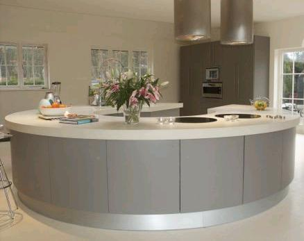 round kitchen island for modern kitchen design ideas