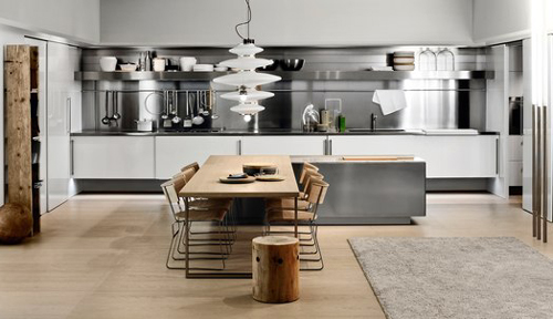 simplicity modern kitchen design with stainless steel appliances