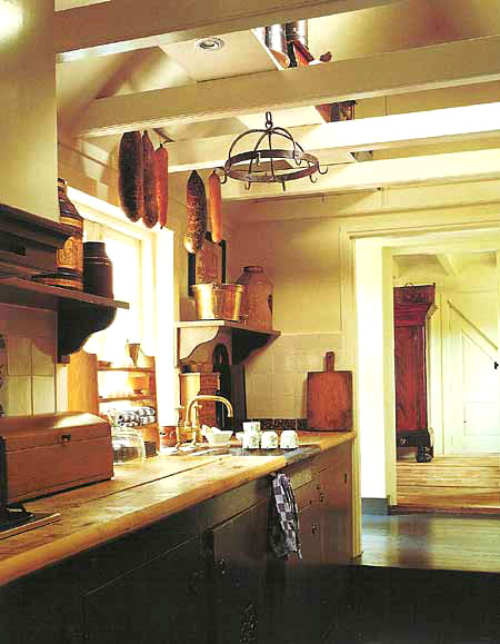 traditional French country kitchen from the early to mid century