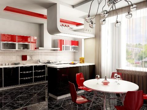 unusual kitchen light fixture in modern kitchen design